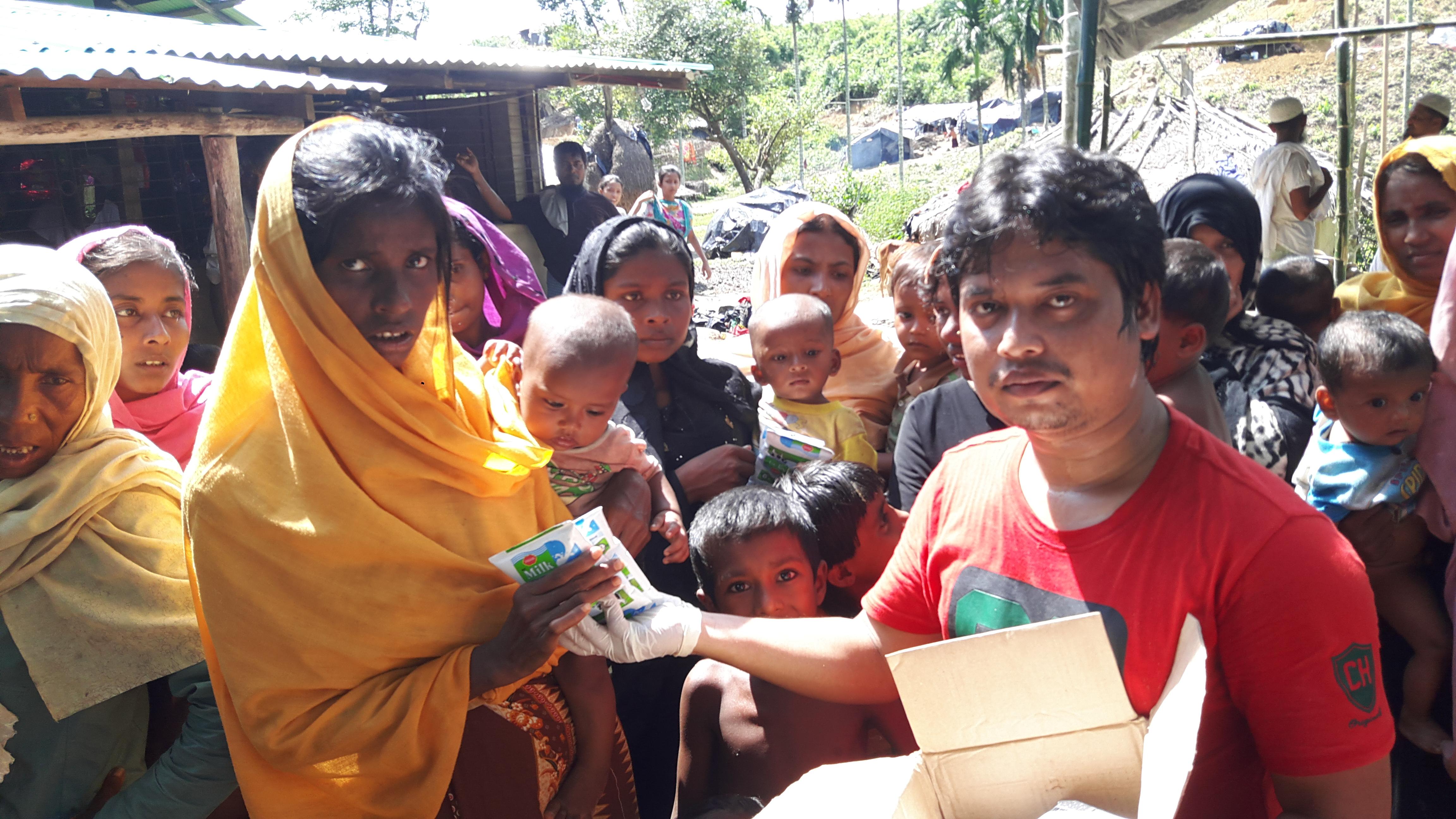 Milk Distribution Among Rohinya Babies